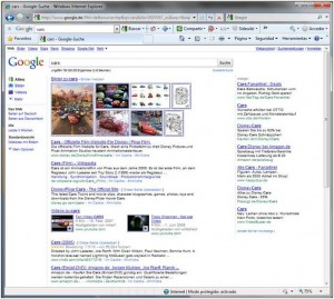Search for cars in Google.de